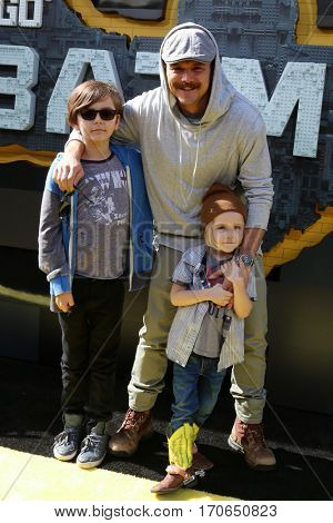 LOS ANGELES - FEB 4:  Clayne Crawford, sons at the