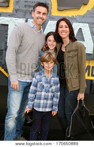 LOS ANGELES - FEB 4:  Janet Evans, family at the