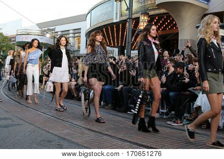 LOS ANGELES - FEB 4:  Models at the Rebecca Minkoff's