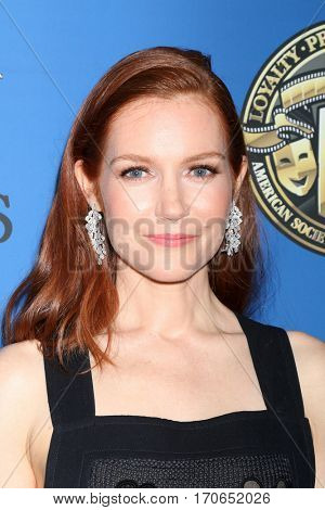 LOS ANGELES - FEB 4:  Darby Stanchfield at the 31st Annual American Society Of Cinematographers Awards at Dolby Ballroom at Hollywood & Highland on February 4, 2017 in Los Angeles, CA