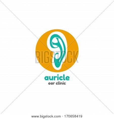 Template logo for auricle. Ear clinic logo poster
