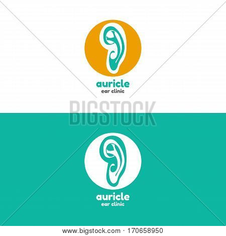 Template logo for auricle. Ear clinic logo