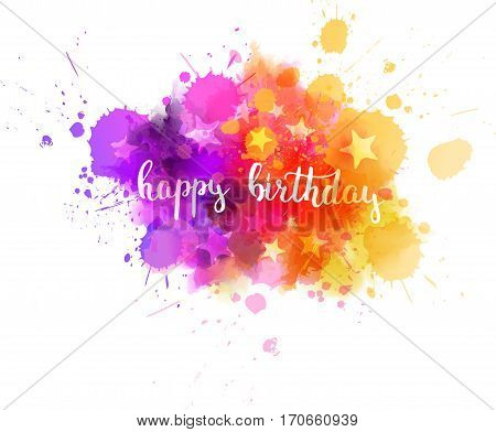Happy Birthday Abstract Background