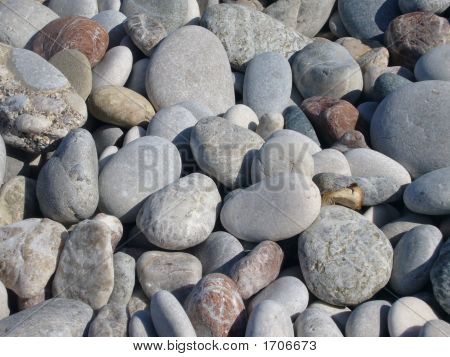 Close-Up Of Stones On A Greek Beach