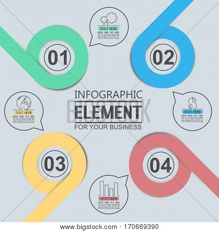ELEMENT FOR INFOGRAPHIC TEMPLATE GEOMETRIC FIGURE OVERLAPPING CIRCLES TENTH EDITION