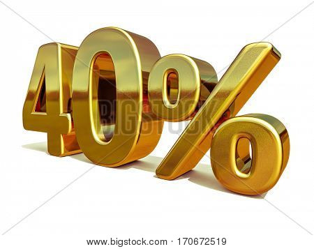 Gold Sale 40%, Gold Percent Off Discount Sign, Sale Banner Template, Special Offer 40% Off Discount Tag, Ten Percentages Up Sticker, Gold Sale Symbol, Gold Sticker, Banner, Advertising, Luxury Sale