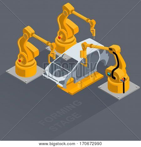 Body image formation process in the factory fully automated production