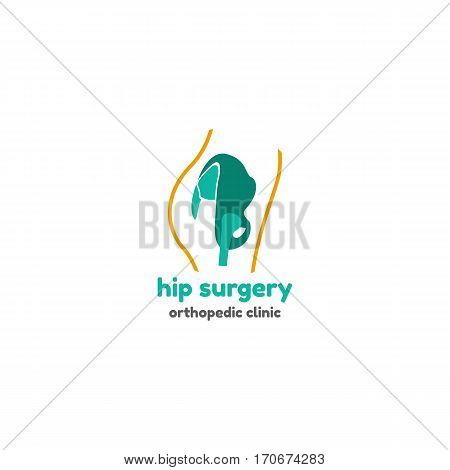 Template logo for hip surgery. Orthopedic clinic logo