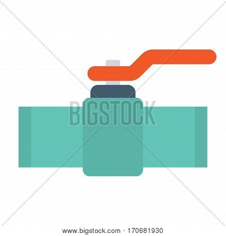 Industrial valve icon isolated on white background. Vector Illustration