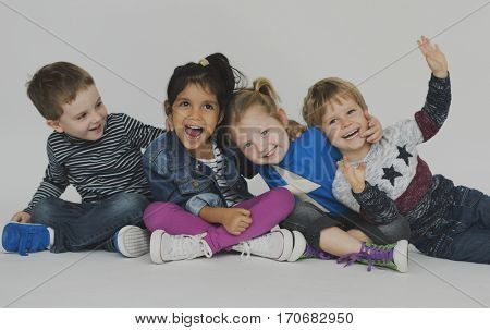 Schooler Friends Happiness Cute Playful