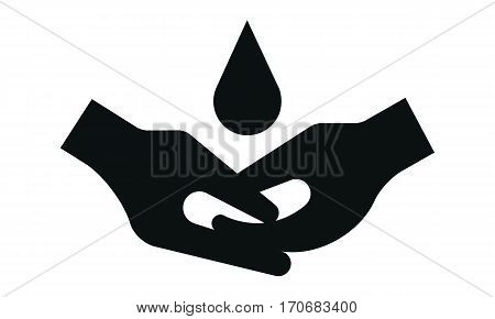 Pictogram - Soap, Wash hands, Disinfect, Wash Hygiene - Object Icon Symbol