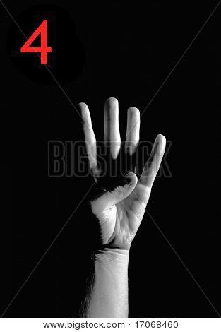 Finger Spelling the Number