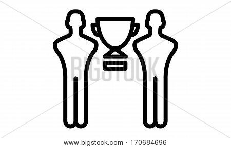 Pictogram - Winner, Cup winner, Personnel development, Human resources, Employee of the month - Object Icon Symbol