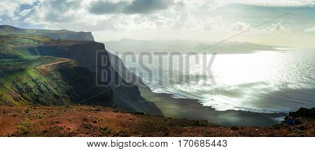 Volcanic island Lanzarote with impressive coast. Canary islands, Spain