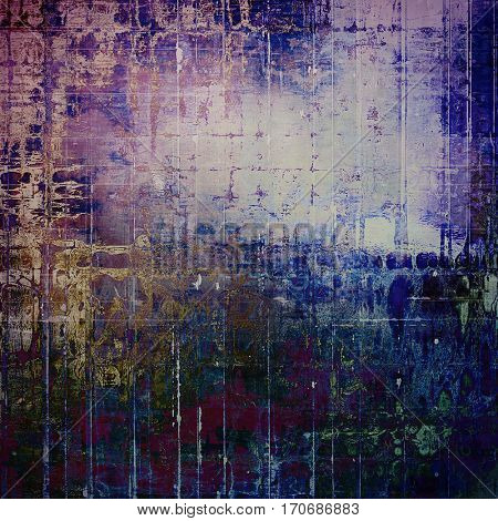 Vintage background - dirty ancient texture. Antique grunge backdrop with different color patterns: yellow (beige); brown; green; purple (violet); blue; pink