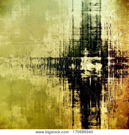 Old background with grunge decorative elements. Retro composition for your design. With different color patterns: yellow (beige); brown; gray; black