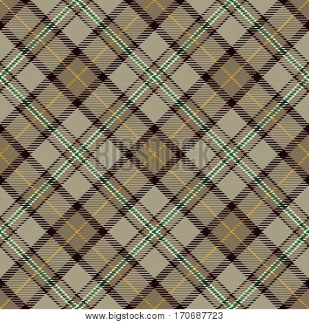 Tartan Seamless Pattern Background. Beige Black Green and White Plaid Tartan Flannel Shirt Patterns. Trendy Tiles Vector Illustration for Wallpapers.