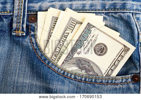 Cash in pocket of jeans. Life is good.