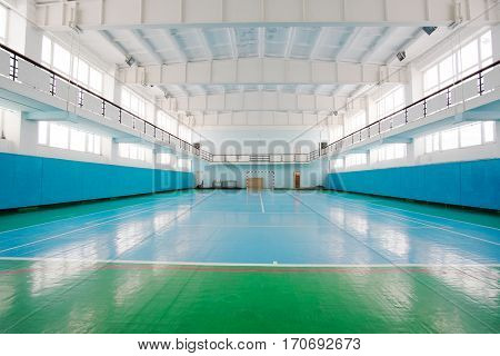 Interior of a sport hall for soccer or handball