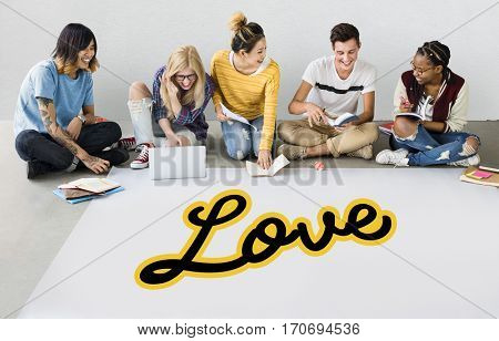 Charity Cursive Writing Word Concept