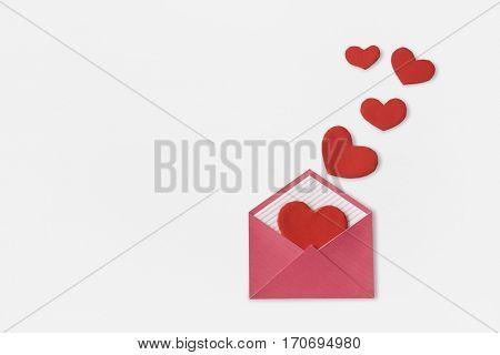 Love Letter Heart Floating Mail Correspondence Relationship