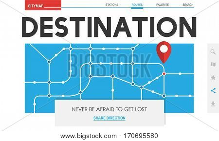 GPS Map Directions Navigation Location