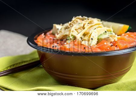 japanese food Mix Sashimi Chirashi Rice Bowl