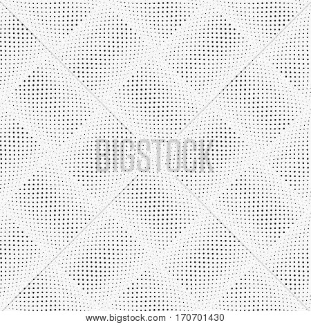 Dotted Line Geometric Seamless Pattern. Repeating Dotted Lines. Dots of the Different Size. Monochrome. Vector Backdrop for Your Design. Texture Pattern Swatches Included in File.