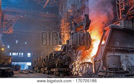 the production of iron and steel plant