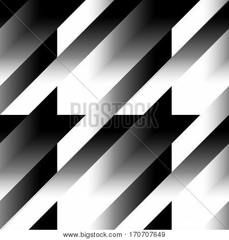 Seamless geometric pattern. Classic Hounds-tooth pattern in gradient abstract style