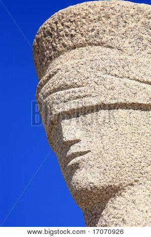 justice is blind statue in front of theSupreme Federal Tribunal of brasilia city capital of brazil