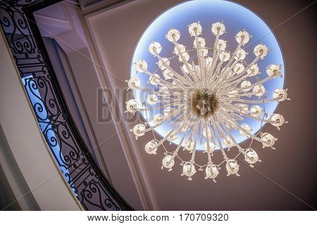 beautiful retro crystal chandelier in ambient lelegant ight