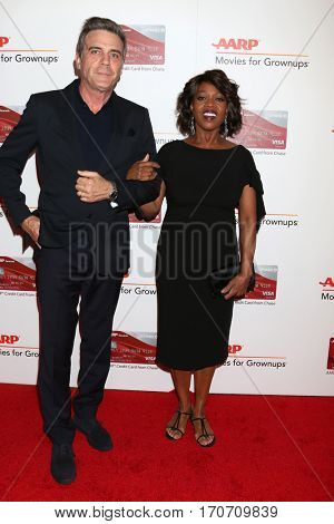 LOS ANGELES - FEB 6:  Roderick Spencer, Alfre Woodard at the AARP Movies for Grownups Awards at Beverly Wilshire Hotel on February 6, 2017 in Beverly Hills, CA