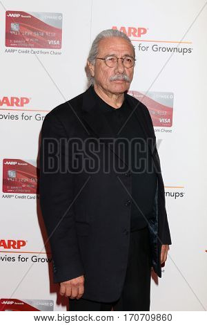 LOS ANGELES - FEB 6:  Edward James Olmos at the AARP Movies for Grownups Awards at Beverly Wilshire Hotel on February 6, 2017 in Beverly Hills, CA