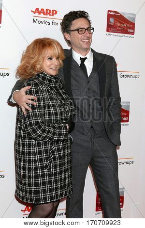 LOS ANGELES - FEB 6:  Zack Braff, Ann-Margret at the AARP Movies for Grownups Awards at Beverly Wilshire Hotel on February 6, 2017 in Beverly Hills, CA