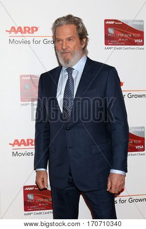 LOS ANGELES - FEB 6:  Jeff Bridges at the AARP Movies for Grownups Awards at Beverly Wilshire Hotel on February 6, 2017 in Beverly Hills, CA