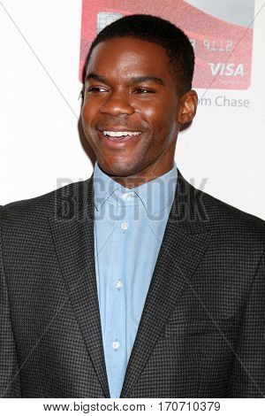 LOS ANGELES - FEB 6:  Jovan Adepo at the AARP Movies for Grownups Awards at Beverly Wilshire Hotel on February 6, 2017 in Beverly Hills, CA
