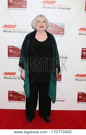 LOS ANGELES - FEB 6:  June Squibb at the AARP Movies for Grownups Awards at Beverly Wilshire Hotel on February 6, 2017 in Beverly Hills, CA