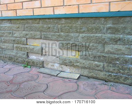 Foundation Repair - Warning Signs. House foundation repair. Foundation Repair.