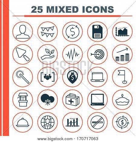Set Of 25 Universal Editable Icons. Can Be Used For Web, Mobile And App Design. Includes Elements Such As Putty, PC, Keyword Optimisation And More.