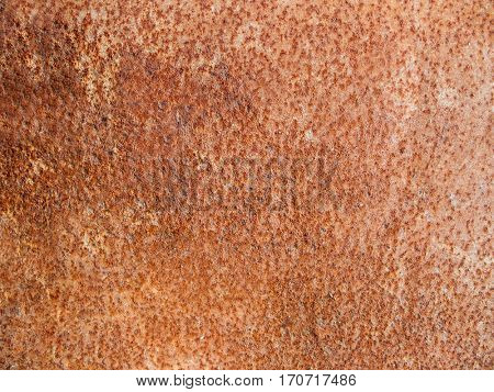 Background of a metal plate corroded with rust texture