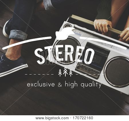 Stereo Vintage Vector Graphic Concept