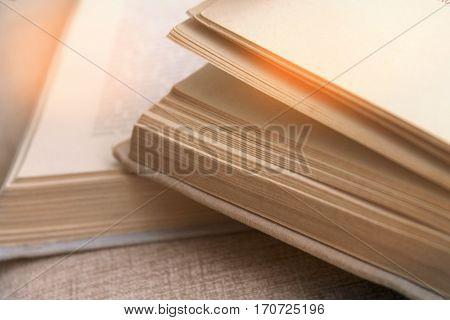 An Open Book In Front Of A Girl