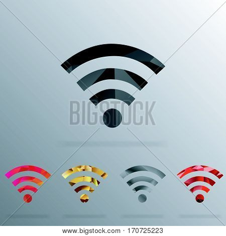 Wifi polygonal Icon In Vector Format. Premium Quality Wifi Symbol. Web Graphic Wifi Sign.