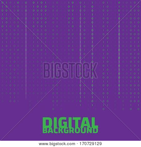 Binary code black and white background. Algorithm binary. Binary code vector