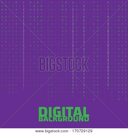 Binary code black and white background. Algorithm binary. Binary code vector