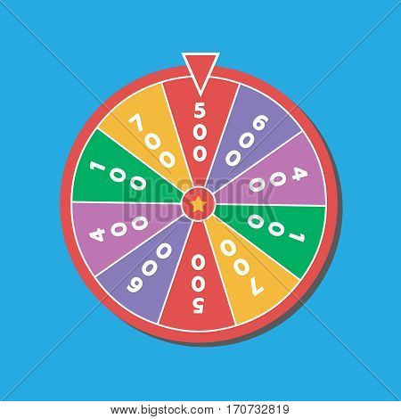 Wheel of fortune vector illustration. Wheel vector symbol