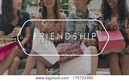 Lifestyle Hangout Girls Time Diversity Together