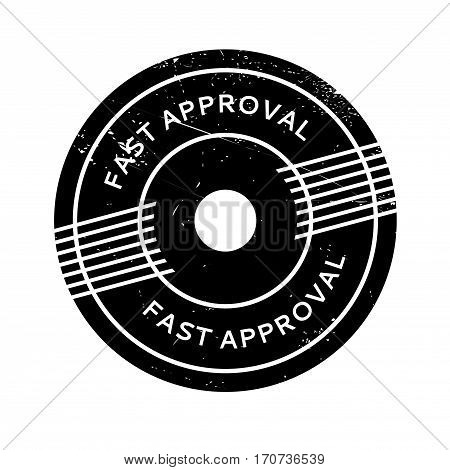 Fast Approval rubber stamp. Grunge design with dust scratches. Effects can be easily removed for a clean, crisp look. Color is easily changed.