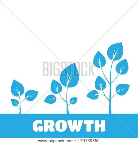 Tree growth diagram. Green tree growth vector. Growth vector sign